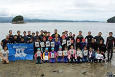 被災地南三陸で、子どもたちのシュノーケル観察会を実施