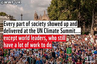 【声明】語られなかった3つの課題 国連気候サミットでの安倍首相スピーチを受けて(2014年9月24日・WWFジャパン)