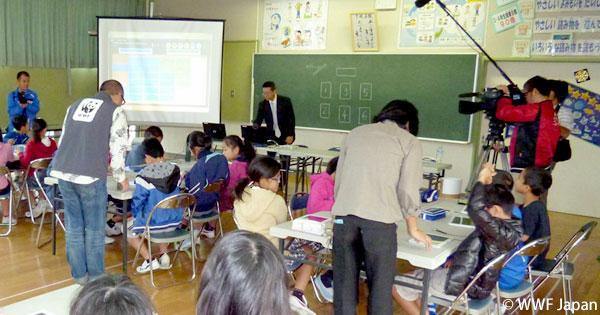 沖縄県読谷村の小学校で環境出前授業をしました