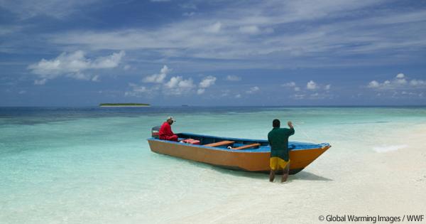 海に沈みかけている小さな島国の話