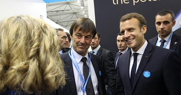 【COP23関連】フランスのマクロン大統領がWWFのパビリオンを訪問イメージ